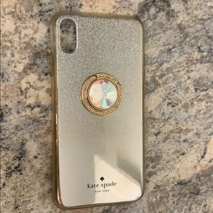 iPhone XS Max Kate Spade Case with attached holder